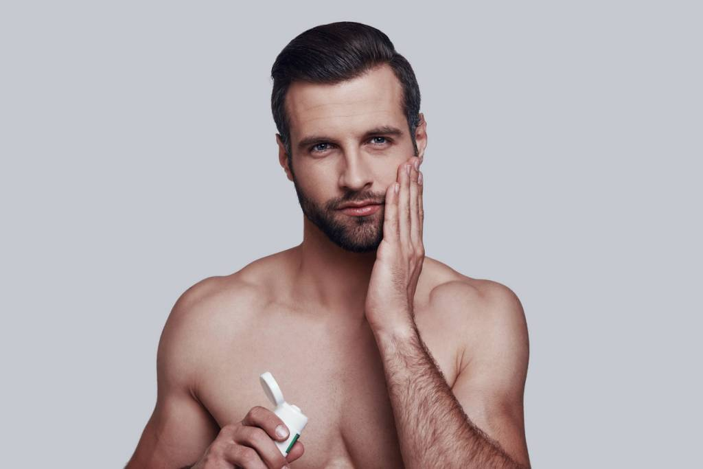 soins cosmétiques pour hommes