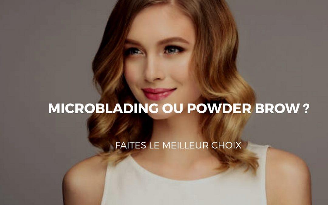 Le microblading est-il meilleur que le Powder brow?