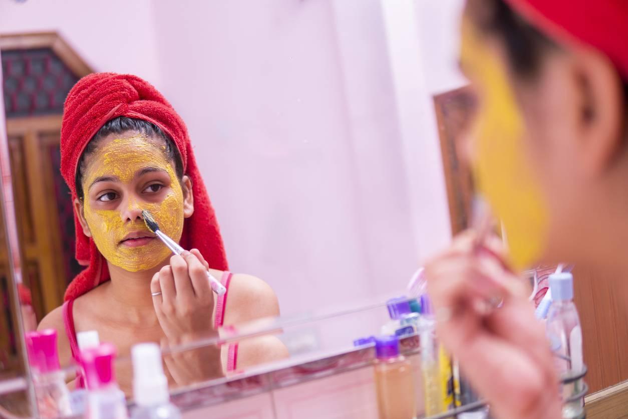 masque beauté anti-âge anti-ride curcuma cosmétique